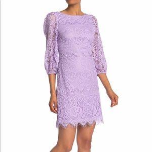 Eliza J Elegant Lavender Lace Shift Dress NWT
